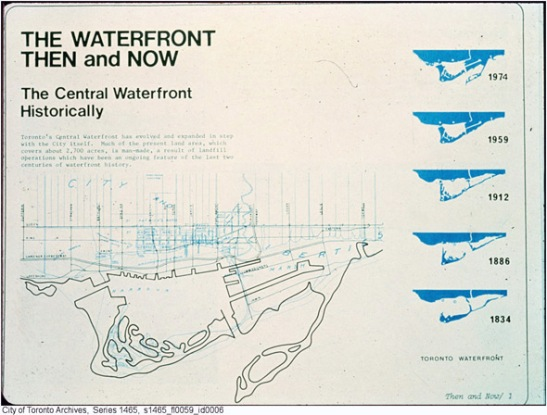 The changing waterfront. City of Toronto Archives, courtesy of BlogTo.
