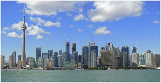 The Toronto skyline today. Lars Zwemmer