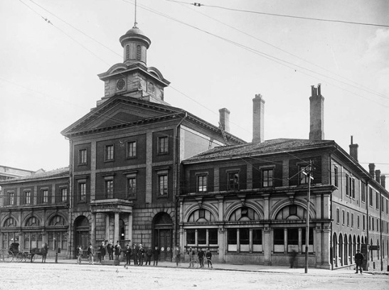 Toronto's first city hall, the remnants of which are preserved in the South Market building. Toronto Archives, F 1251, It.0098