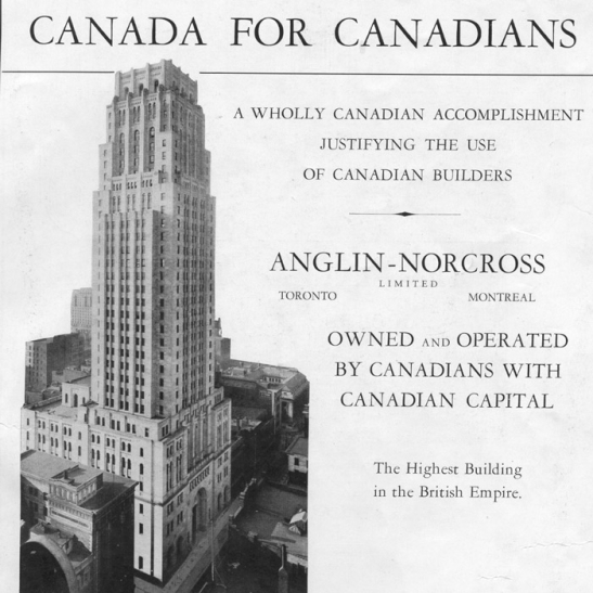 Canada for Canadians: Skyscrapers as a symbol of the nation, 1930.