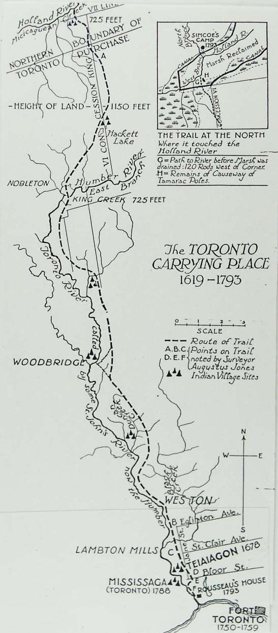 For centuries before European settlement, the Toronto area was a key link for travel by canoe into the heart of the Great Lakes.