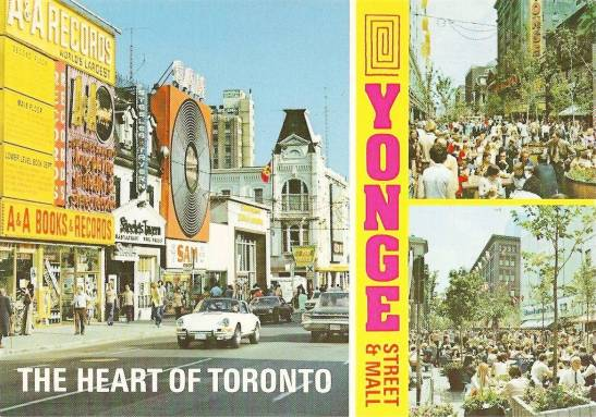 The Heart of Toronto: Yonge Street, 1970s. Chuckman's Toronto.