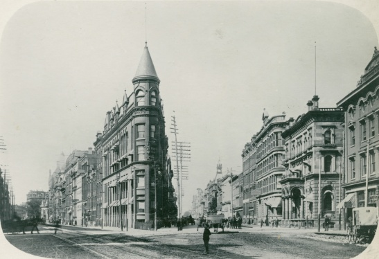 This 1898 images shows how the Gooderham building dominated the Victorian Streetscape.