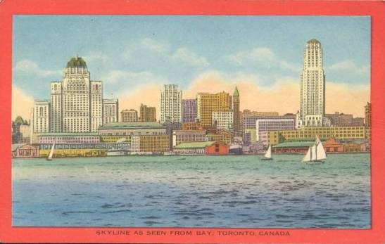 The first phase of growth: The skyline in the 1930s. Chuckman's Toronto