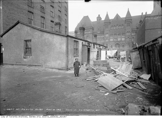 The Ward: Slums later cleared to build the new Civic Square, 1934. City of Toronto Archives