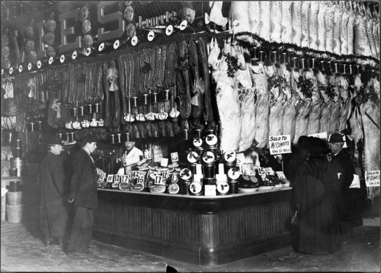 The interior of the market c. 1900. City of Toronto Archives, Fonds 1244, 338b.